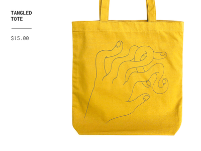 Tangled Tote tangle hand tote illustration