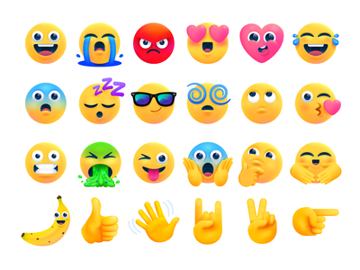 Messenger Moodie Stickers mssages messenger icons charcaters emoji illustration stickers
