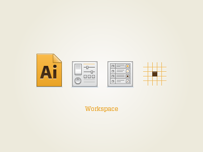 Workspace Icons vector icons ui illustration document settings preferences layers grid align