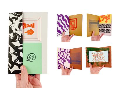 Scraps Zine 02 abstract pattern texture illustration art zine print risograph