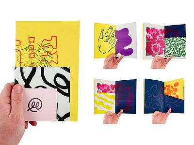 Scraps Zine 03 art abstract stamp illustration print zine risograph