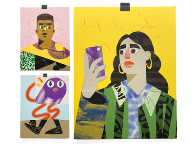Riso Collage Characters