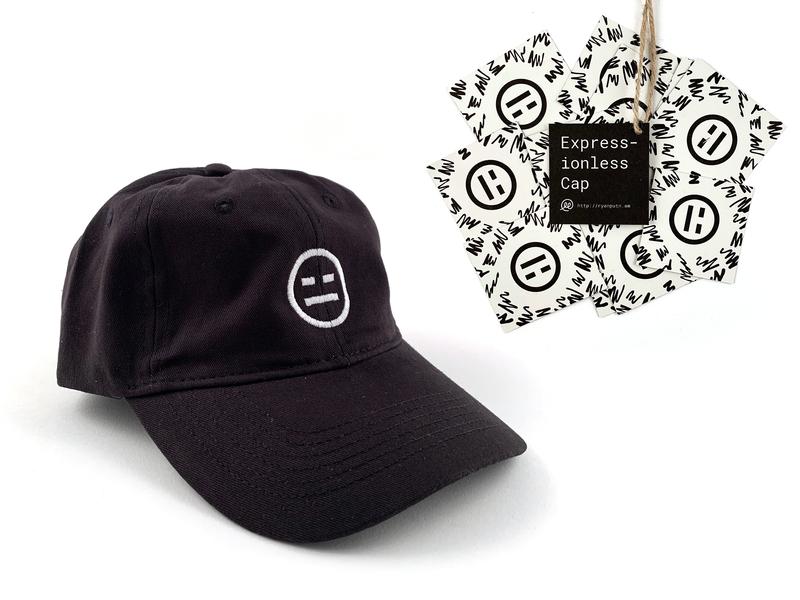 Expressionless Cap rubbik meh expressionless 😑 print labels risograph hat cap
