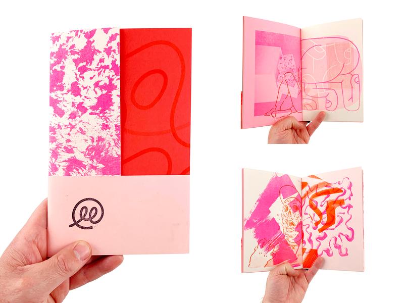 Red Scrapper layout art texture zine print risoprint risograph illustration