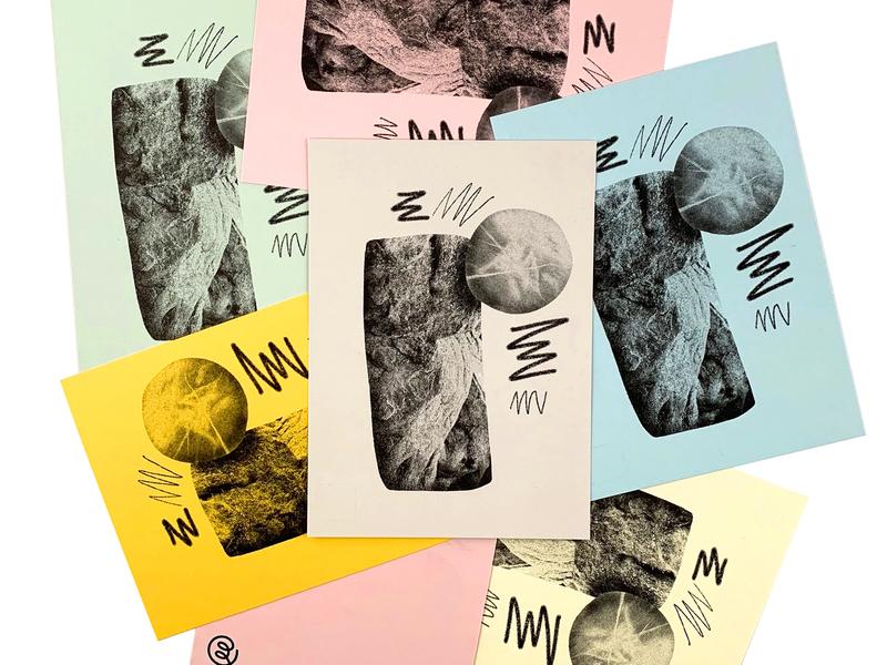 Boulder Postcards 01 abstract postcard print risograph texture illustration