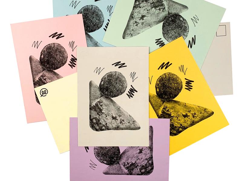Boulder Postcards 02 postcard risoprint texture illustration risograph