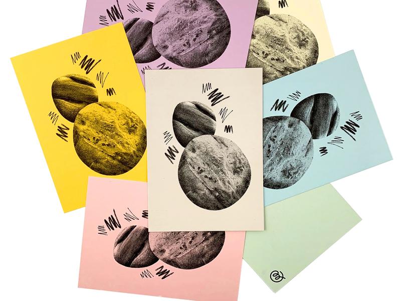 Boulder Postcards 03 postcard risograph print texture illustration