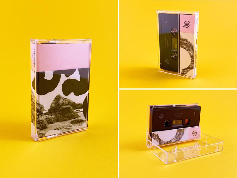 Egress Cassette analog cassette music print design illustrations risograph print