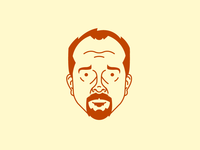 Louis C.K. illustration vector avatar louis ck fun funny ginger television comedy comedian clean free iphone wallpaper