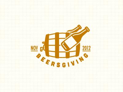 Beersgiving Logo vector logo icon mark identity brand beer keg bottle pattern texture holiday