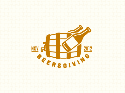 Beersgiving Logo vector logo icon mark identity brand beer keg bottle pattern texture holiday