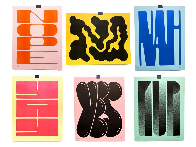 Risoctober 2019 01 typography poster art print risograph illustration