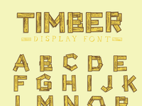 Timber Display Font