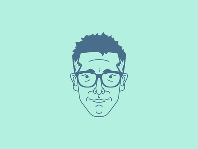 Ira Glass Avatar vector illustration character avatar glasses ira glass this american life radio wallpaper nerd geek
