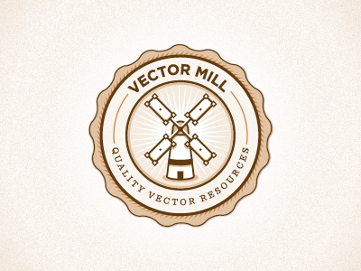 Vector Mill vector illustrator logo icon typography seal
