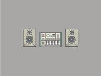 Synth And Speakers Icons