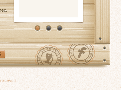 Footer Icons vector illustrator icon typography social twitter facebook wood seal