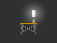 Pablo Sophie Lamp on Eames Wire Base Low Table