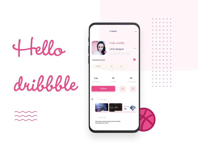 Dribbble website web  design web ux ui  ux design ui mobile mobile app minimal interface interface design idea hellodribbble follow me folow figma designer design clean app