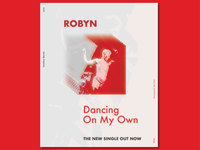 Poster Design: Robyn - Dancing On My Own