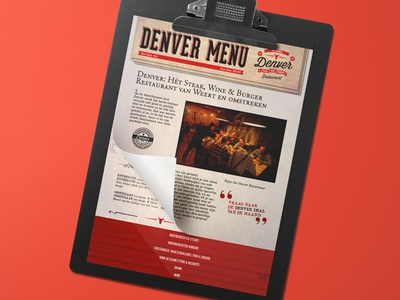 Denver Menu menu card branding