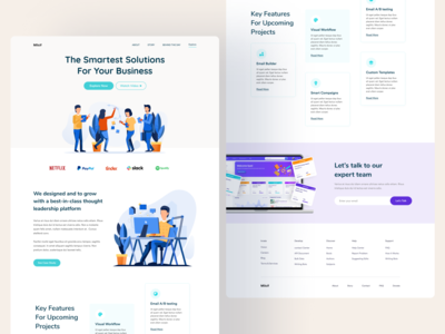 Milcif Agency Landing Page