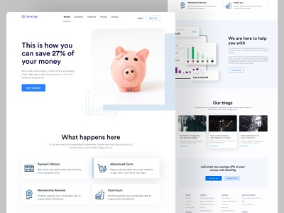 SaveTag Landing Page ui footer color product branding business logo header features homepage website design landing page