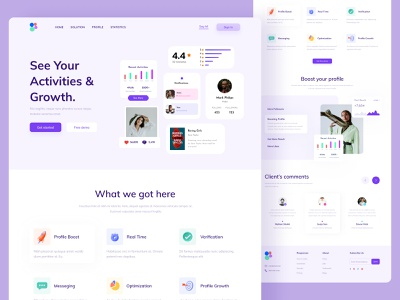 Color Landing Page footer header ui kit features testimonial typography product business ui branding website website design landing page