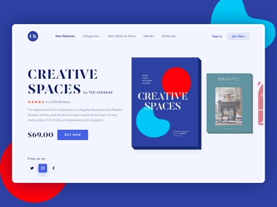 CS Web UI exploration trendy ebay minimal featured color typography online shop shopping shop store ebook kindle amazon 2020 book design book store book shop blue book cover book