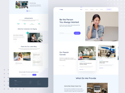 Online Learning Courses   Landing Page