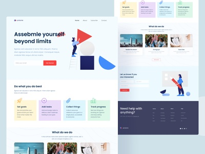 Pretome Agency Landing Page footer icon branding illustration features ui website design website design landing page agency