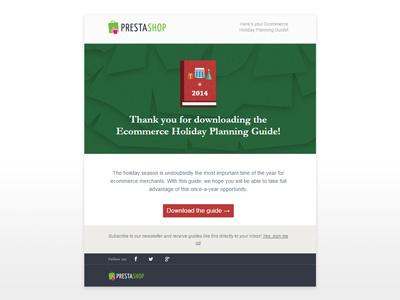 Holiday Guide 2014 Mail responsive mail illustration christmas marketing prestashop