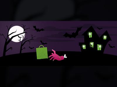 Halloween cover for PrestaShop illustration halloween prestashop