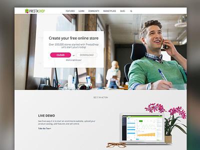 PrestaShop Website prestashop illustration ux ui ecommerce art direction graphic design web design