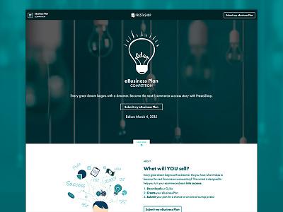 PrestaShop Ebusiness Plan Competition  web design graphic design art direction ecommerce ui ux illustration prestashop