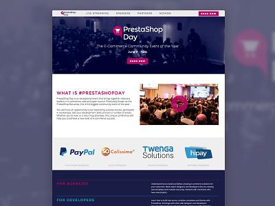 PrestaShop Day illustration art direction prestashop photoshop web design