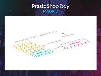 PrestaShop Day Madrid - Map design map svg event