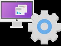 Computer & Gear Vector