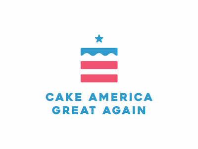 Cake America Great Again Logo Design