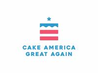 Cake America Great Again Logo Design