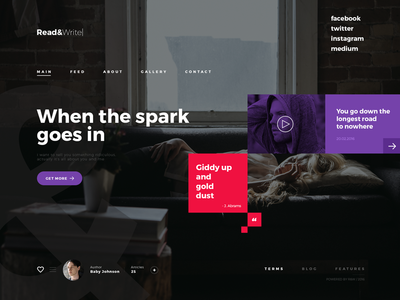 Read&Write style write read design shot article ux ui template interface web