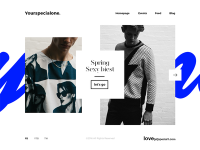 Yourspecialone. minimal style glam fashion typo ux ui interface design web