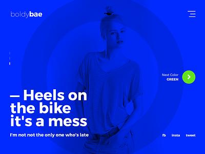 boldybae gif animation minimal style color interface ux ui design web