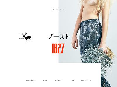 gg 1827 animation minimal style web fashion ux design ui