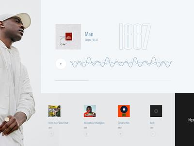 colosseum animation music minimal light ux ui design web