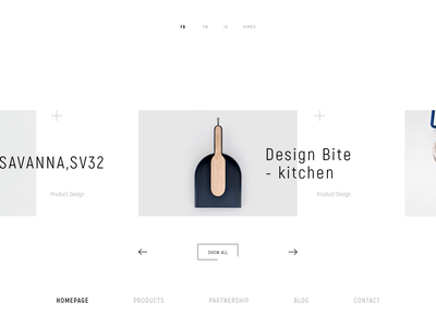 SOMEDAY collection catalog product minimal ux ui design web