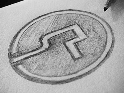 Simon Pan Logo Sketch logo monogram