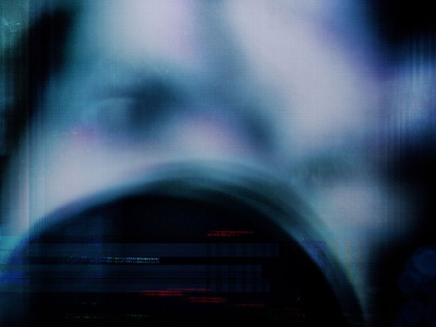 Discordant glitch photography abstract eye