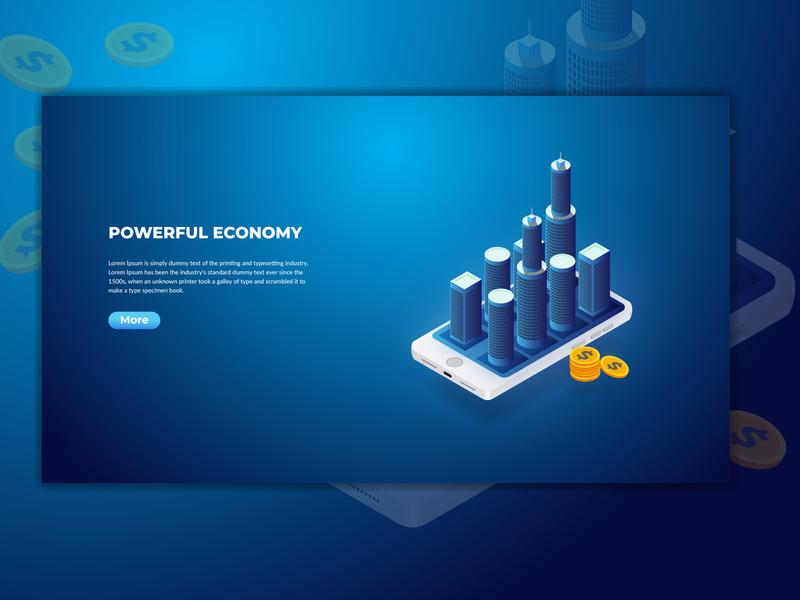 Powerful Economy Landing page