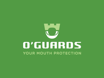 Logo for the company producing mouthguards mouth guard guards protection shield castle tooth logo